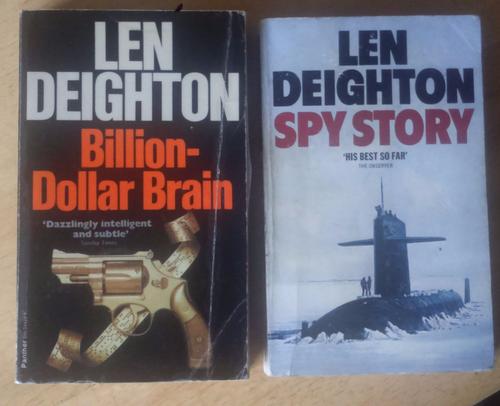 Deighton, Len 4 Novels An Expensive Place to Die, Spy Story, Bomber & Billion Dollar Brain VINTAGE