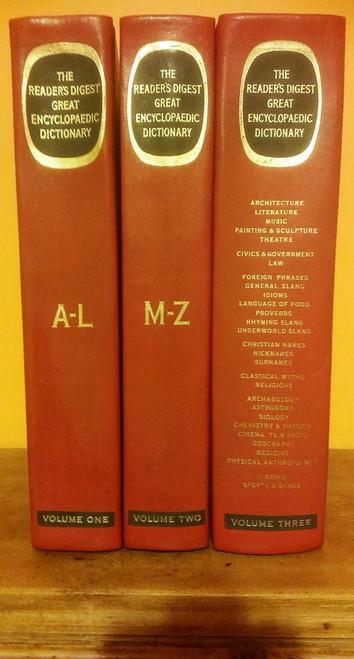 The Reader's Digest Great Encylopaedic Dictionary (Complete 3 Book Set)
