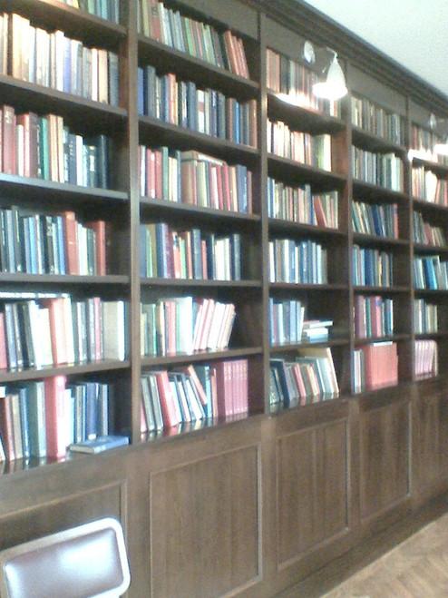 1 Meter of Varying Sized, Plain Covered, Hardback Books