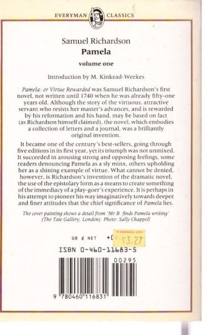 Richardson, Samuel / Pamela (vol. 1)