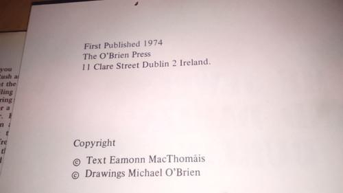 Mac Thomáis,  Éamonn  -Me Jewel and Darlin' Dublin - 1974 First Edition Hardcover - O'Brien Press - Illustrated