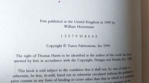 Harris , Thomas 2 Novels - Hannibal & Hannibal Rising UK First Edition Horror Hannibal Lecter