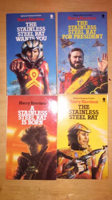 Harrison, Harry - Science Fiction - 5 Books Vintage Paperbacks  ( Stainless Steel Rat Series)