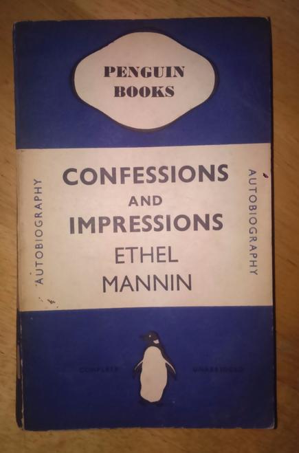 Mannin, Ethel - Confessions and Impressions Vintage Penguin PB 71 - 1938
