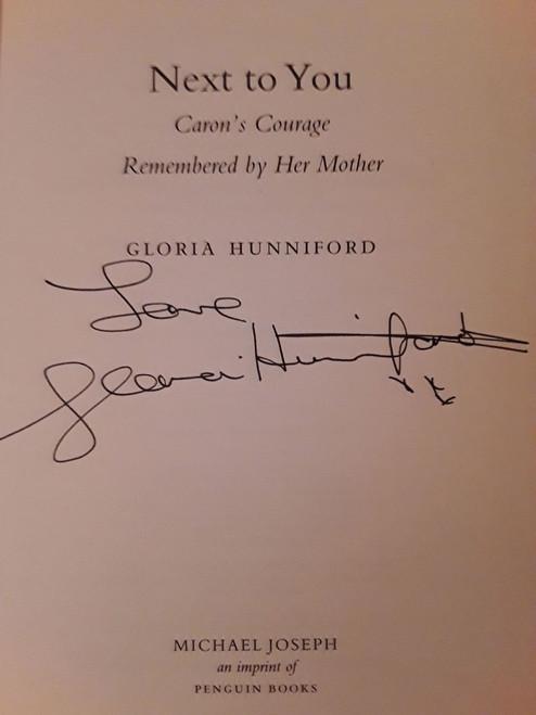 Gloria Hunniford / Next to You (Large Hardback) (Signed by the Author)