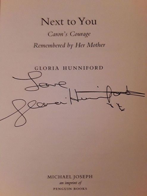 Gloria Hunniford / Next to You (Large Hardback) (Signed by the Author)
