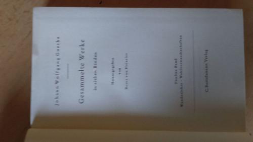 Goethe, Johann W - Gesammelte Werke - 4 Vol Partial Set GERMAN HB 1957