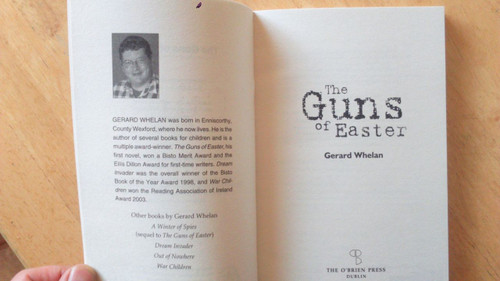 Whelan, Gerard  - The Guns of Easter - BRAND NEW O'Brien Press PB 1916 Novel
