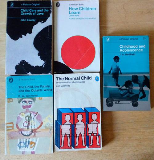 Collection 5 Vintage Penguin Pelicans - Non Fiction Paperbacks - Childcare & Education