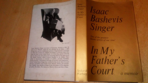Singer, Isaac Bashevis - In My Father's Court HB 1st ED Memoir Poland
