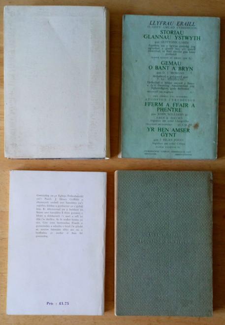 4 Book LOT - Vintage WELSH Language Cymru Poetry Wales