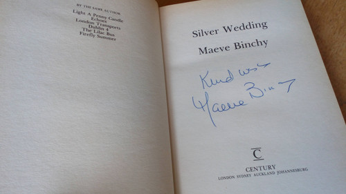 Binchy, Maeve - Silver Wedding - SIGNED - HB First Edition - 1987