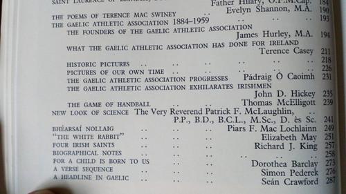 Capuchin Annual 1960 - 27th Year of Publication - GAA Feature