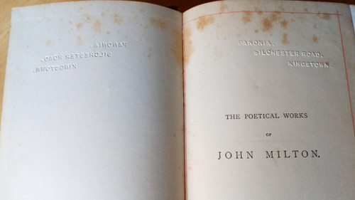 Milton, John - Poetical Works ( Collected Poems) Warne 'Lansdowne Edition, 1887 Gilt Cloth
