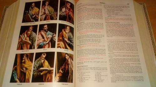 Holy Bible - Catholic Edition 1971-2 - White Vinyl - NAB - Deluxe Parish Edition HB