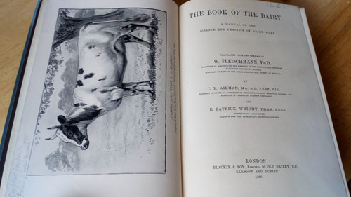 Fleischmann, W - The Book of the Dairy Vintage Agriculture Hb 1st ed 1896