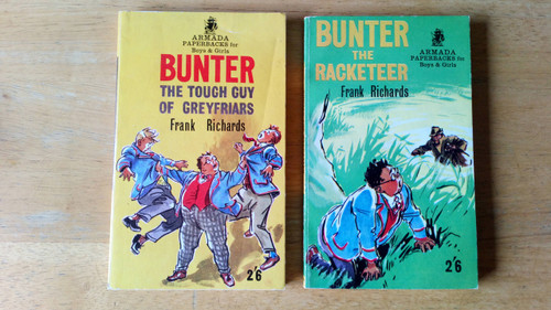 Richards, Frank - 2 Books of Billy Bunter - The Tough Guy of Greyfriars & Bunter the Racketeer Vintage Armada Pb eds