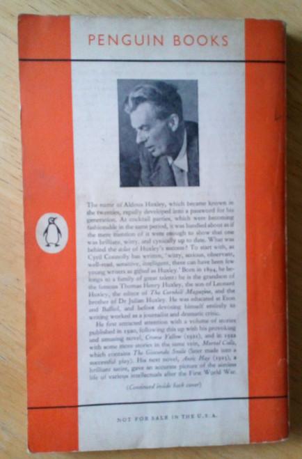 Huxley, Aldous - Crome Yellow - Vintage Penguin Paperback 1960 Ed