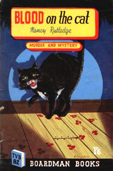 Rutger, Nancy - Blood on the Cat - Vintage Pulp Fiction Crime Mystery 1950