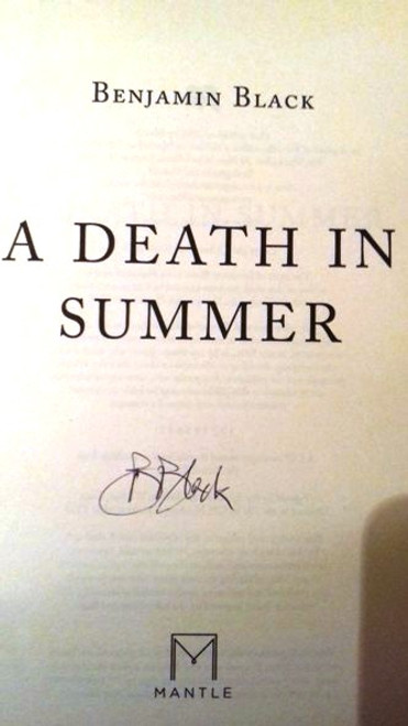 Benjamin Black / A Death in Summer (Paperback) (Signed by the Author)