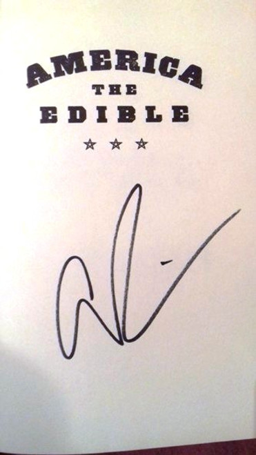 Adam Richman / America The Edible (Medium Paperback)(Signed by the Author)