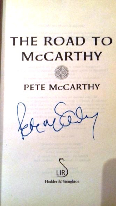 Pete McCarthy / The Road to McCarthy (Medium Paperback) (Signed by the Author)