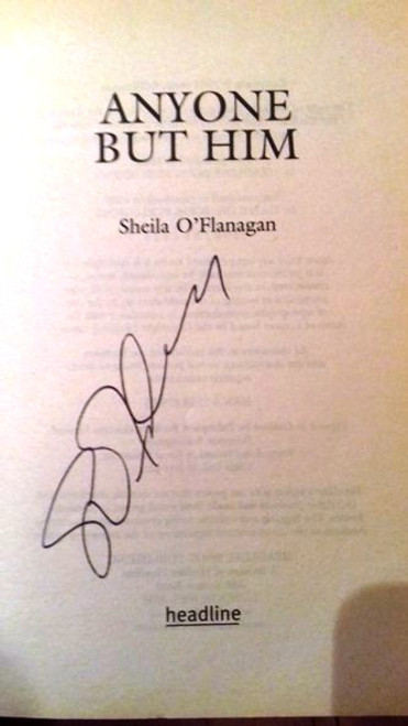 Sheila O'Flanagan / Anyone but Him (Paperback) (Signed by the Author)