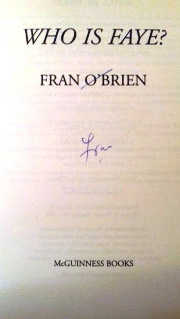 Fran O'Brien / Who is Faye? (Paperback) (Signed by the Author)