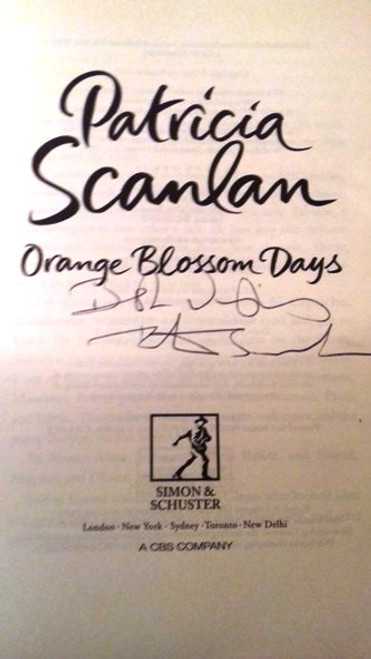 Patricia Scanlan / Orange Blossom Days (Large Paperback) (Signed by the Author)