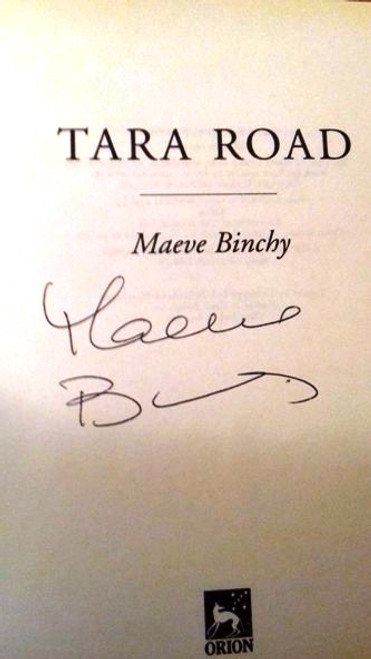Maeve Binchy / Tara Road (Large Hardback) (Signed by the Author) (3)