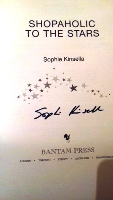 Sophie Kinsella / Shopaholic to the Stars (Large Hardback) (Signed by the Author)