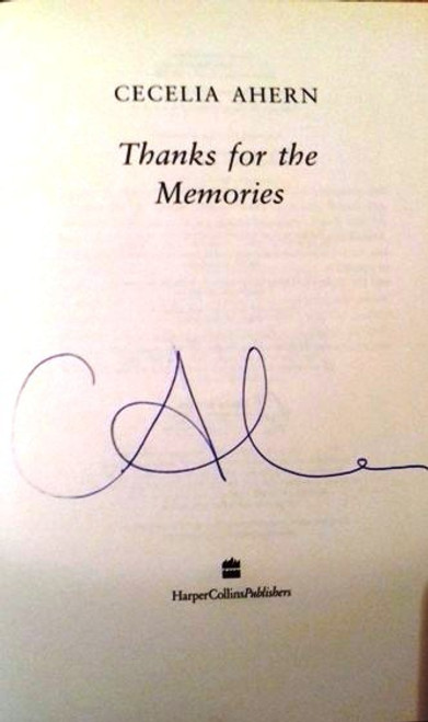 Cecelia Ahern / Thanks for the Memories (Large Paperback) (Signed by the Author) (1)