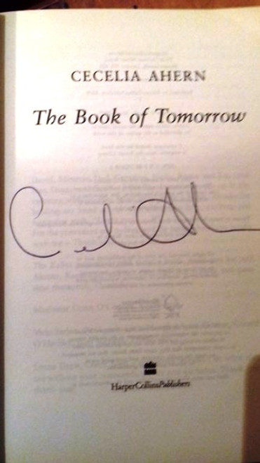 Cecelia Ahern / The Book of Tomorrow (Large Paperback) (Signed by the Author)