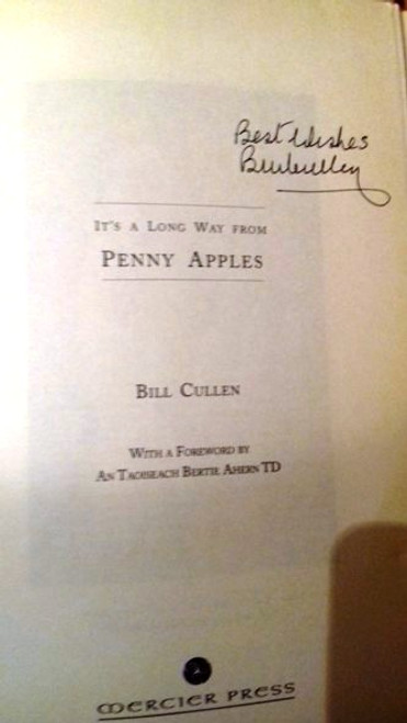 Bill Cullen / It's a Long Way from Penny Apples (Large Paperback) (Signed by the Author)