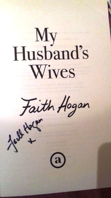 Faith Hogan / My Husband's Wives (Large Paperback) (Signed by the Author) (1)