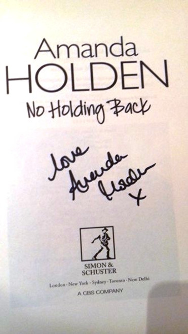 Amanda Holden / No Holding Back (Large Paperback) (Signed by the Author) (1)