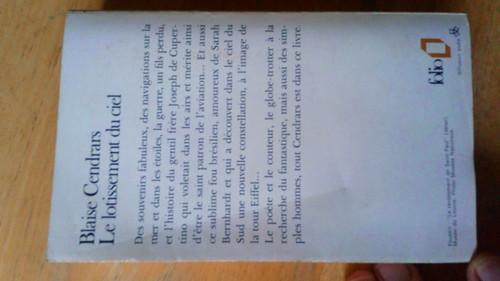 Cendrars, Blaise - Le Lotissement du Ciel - PB Folio  Denoel  FRENCH