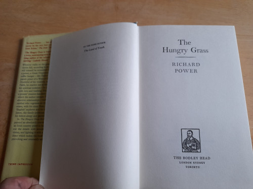 Power, Richard - The Hungry Grass - HB 1970  - Classic Novel Ireland ( Originally 1969)