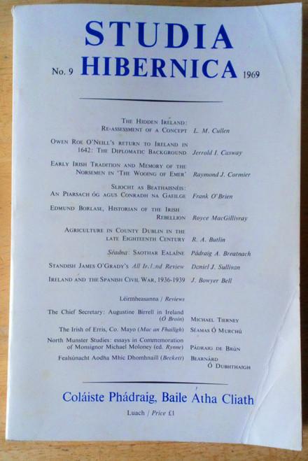 Studia Hibernica - JOURNAL No 9 1969 - History Ireland Culture & reviews