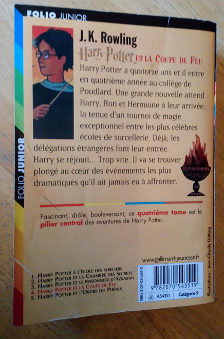 Rowling, J.K - Harry Potter et la coupe de Feu - PB En Francais - folio Junior Ed