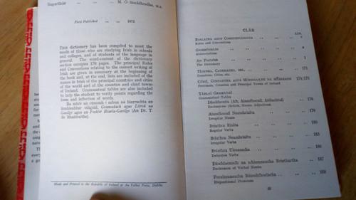 Ó Siochfhradha, Mícheál - Learner's English Irish Dictionary HB 1971 Foclóir Gaeilge Béarla