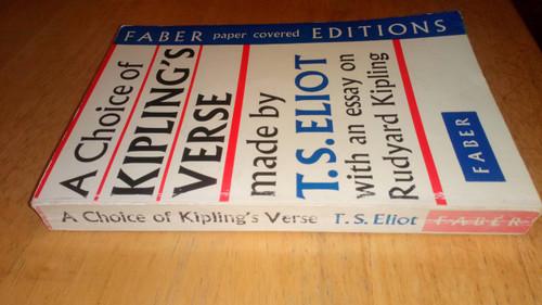 Kipling, Rudyard - A Choice of Kipling's Verse - Made by T.S Eliot  - Vintage Faber Poetry PB