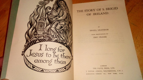 Leatham, Diana - The Story of St. Brigid of Ireland - Vintage PB 1955