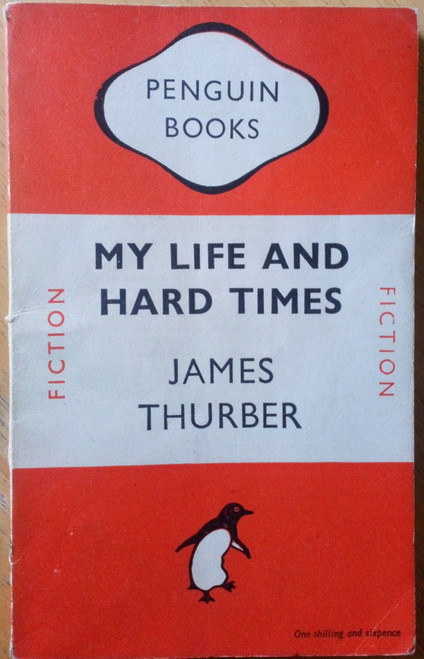 Thurber, James - My Life and hard Times - Vintage Penguin PB 1948 - Humour  Illustrated