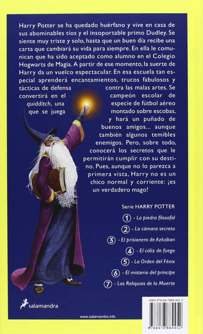 Rowling, J.K - Harry Potter y la Piedra Filosofal - Spanish Language Edition - HB 2001