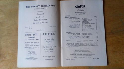 Delta : Poetry and Criticism - No 14 , 1958 - Irish Poetry Special  - Cambridge