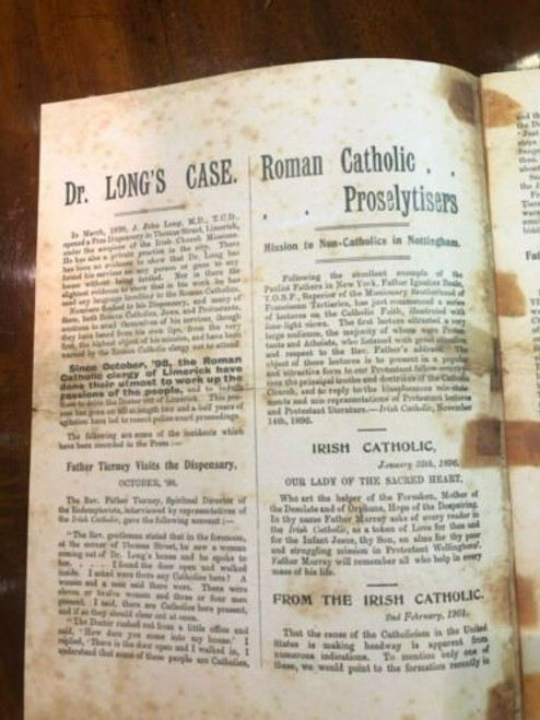 The Limerick Scandal 1901 - A Complete History : Reproduction Edition  - Proselytism
