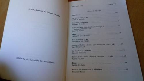 Nic Pháidín , Caoilfhinn ( Eagarthóir) Nua-Aois Uimhir 8 - Cumann Literatha UCD 1981