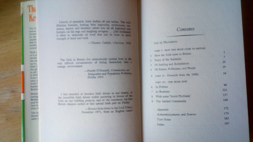 O'Connor, Kevin - The Irish in Britain - HB 1st Ed - Sociology , Emigration, Politics - Signed by Maurice Manning