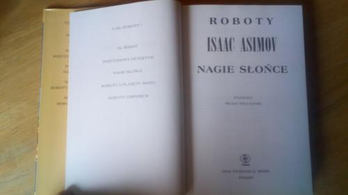 Isaac Asimov - Nagie Slonce ( The Naked Sun) - POLISH Ed - HB SF Rebis 2013